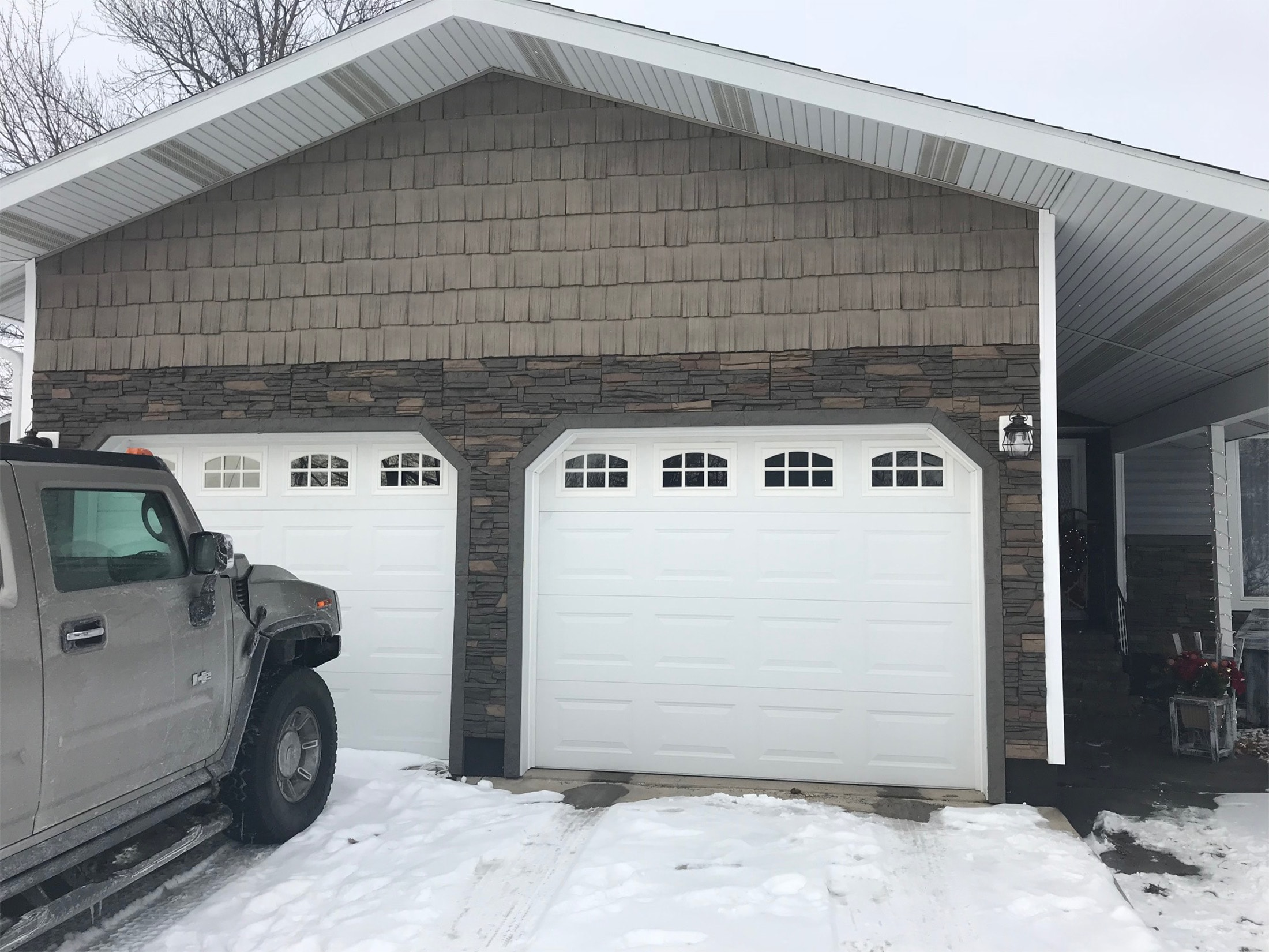 Garage Amp Front Door Update Curb Appeal Ideas By Sam