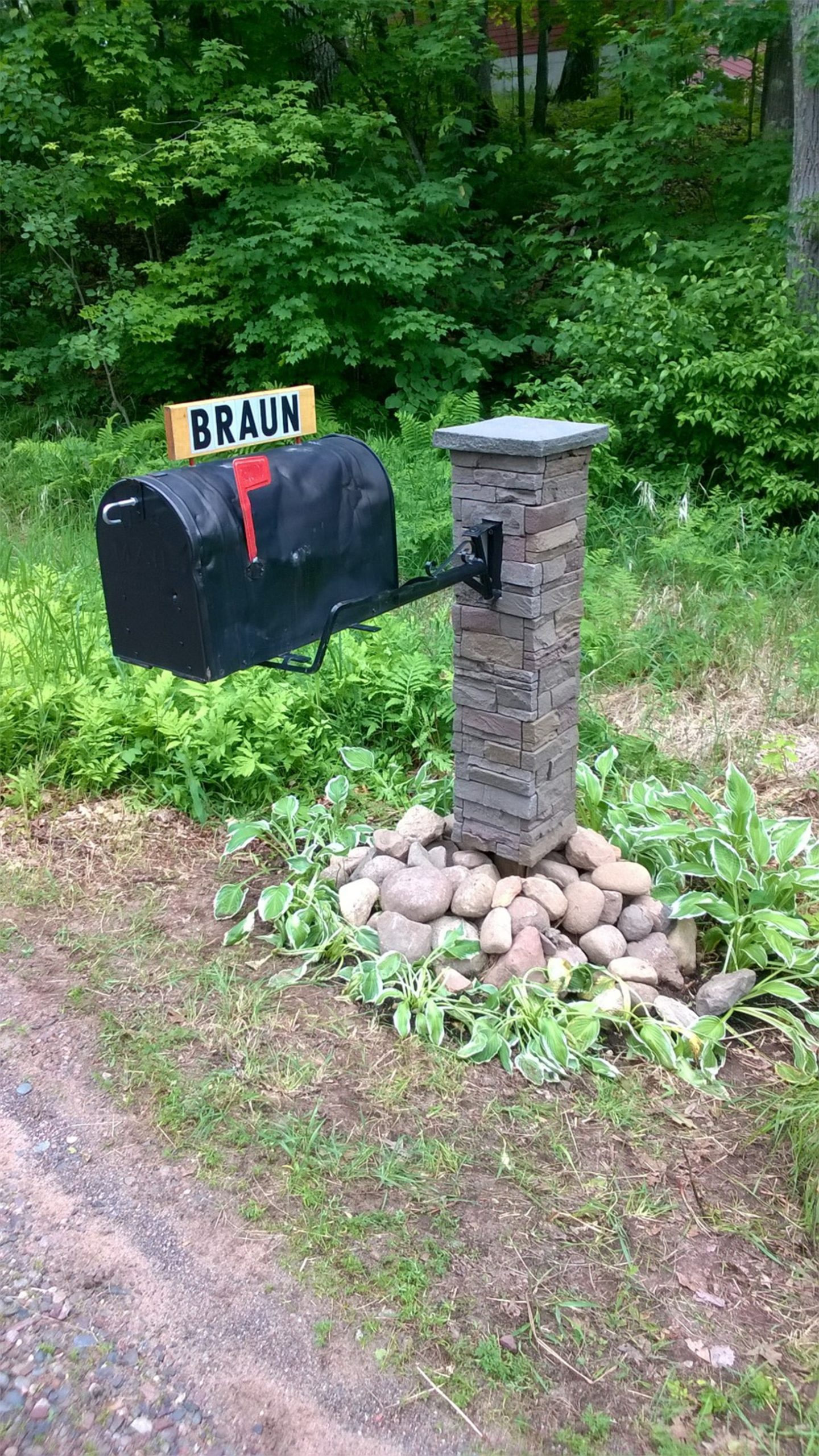 How to Build a Stone Column Mailbox
