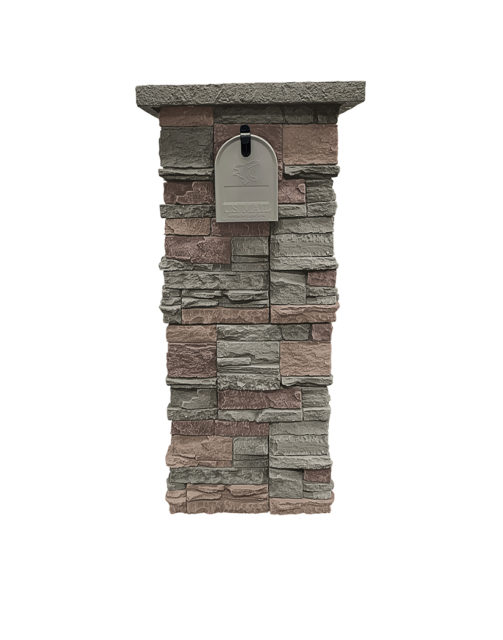 Keystone Stacked Stone Column