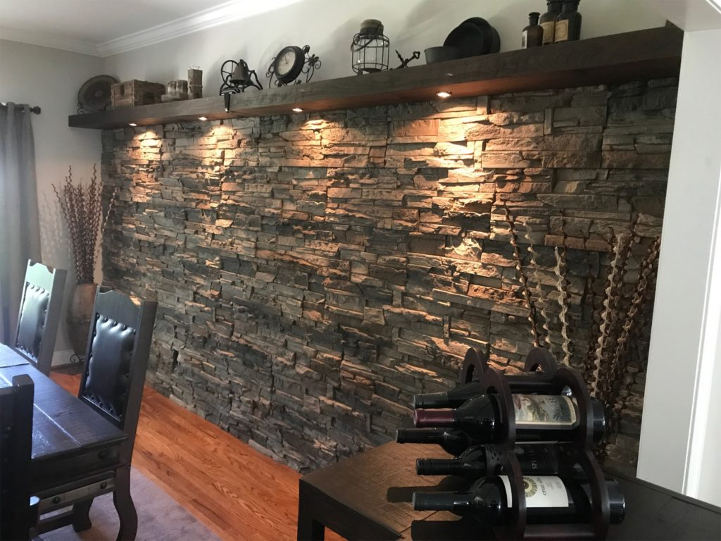Interior Stone Accent Wall Ideas By Wes Genstone