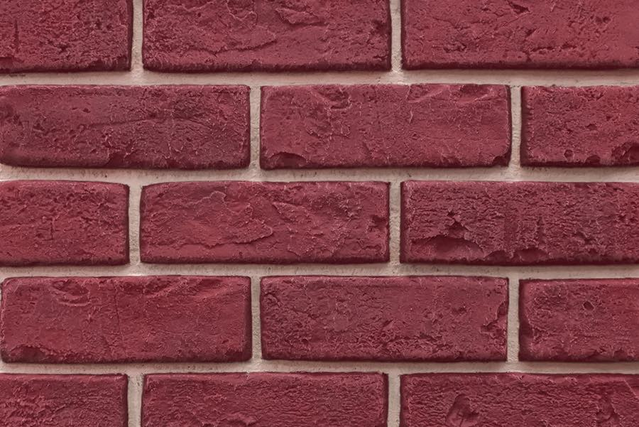Deep Red Faux Brick Veneer Panel