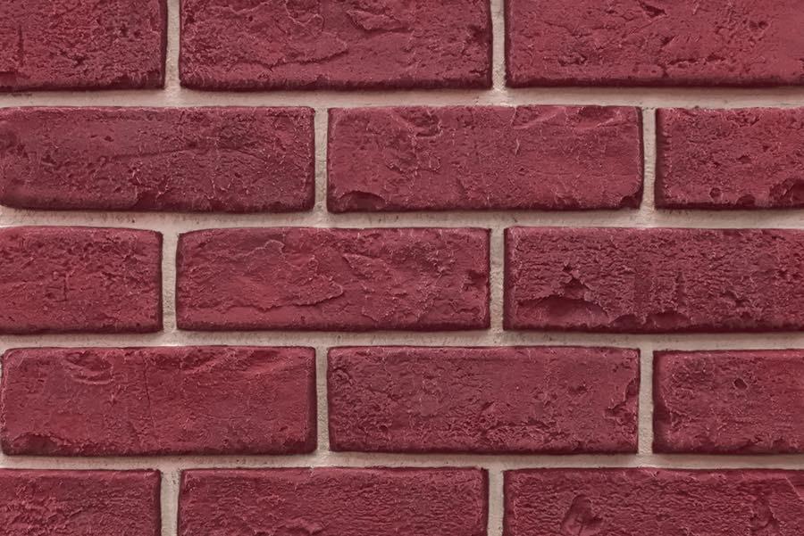 Deep Red Faux Brick Veneer Panel