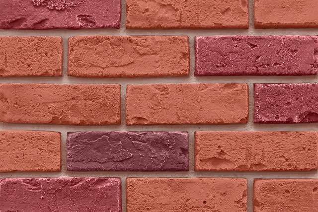 Multi Color Faux Brick Veneer Panel