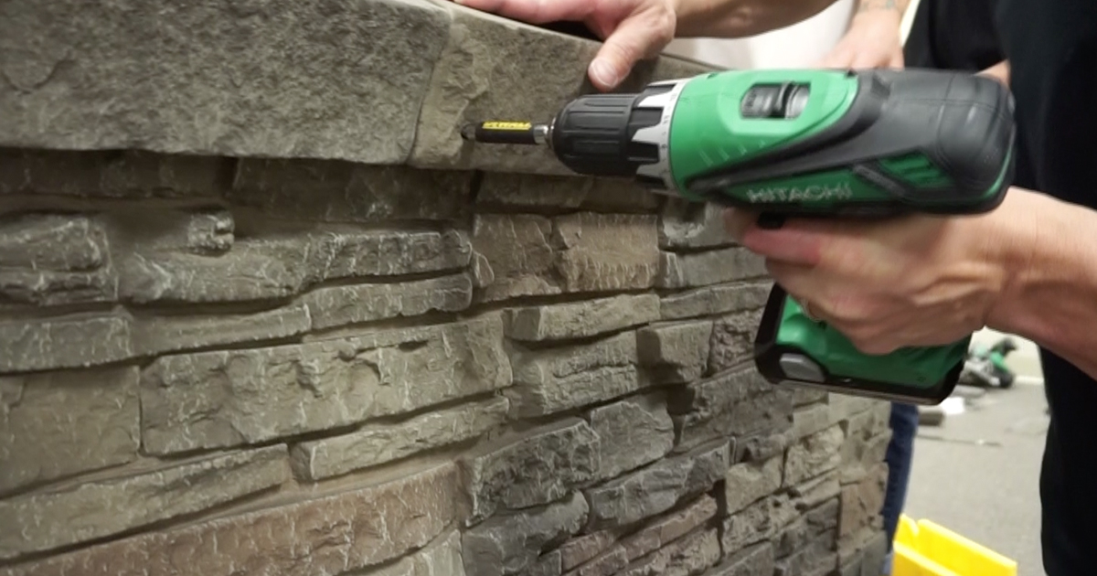 Installing Faux Stone Tip 21