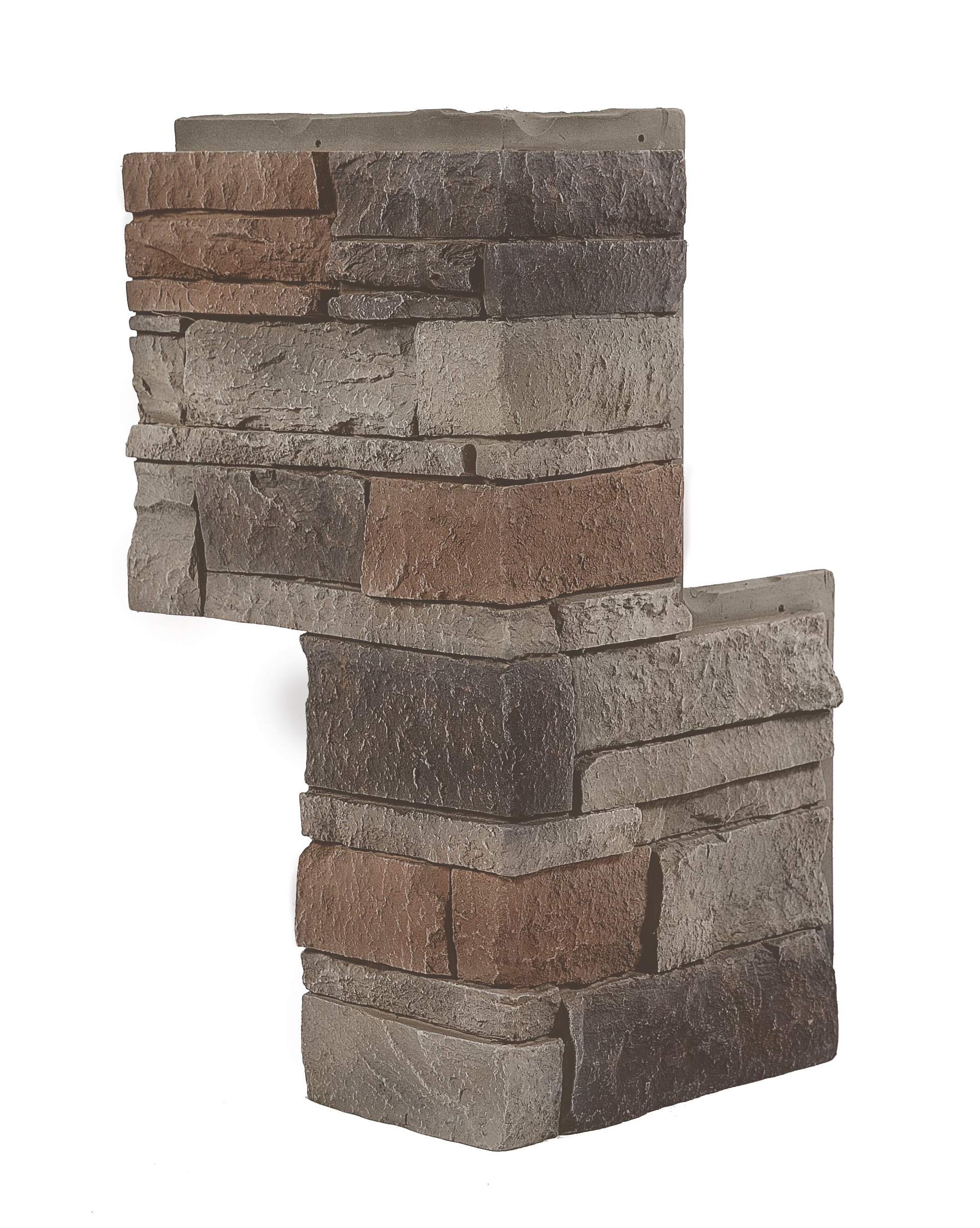 Kenai Stacked Stone 90º Outside Corner