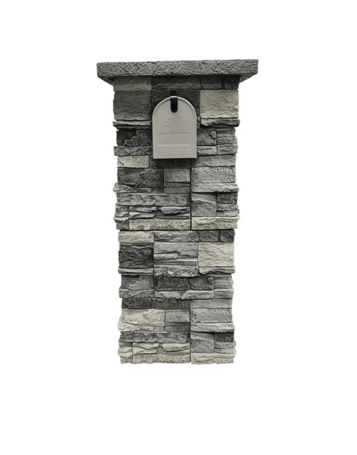 Northern Slate Stacked Stone Column