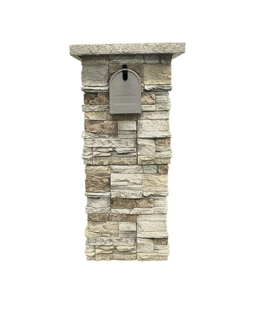 Vanilla Bean Stacked Stone Column