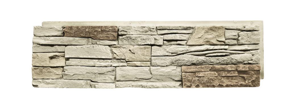 Vanilla Bean Stacked Stone Panel