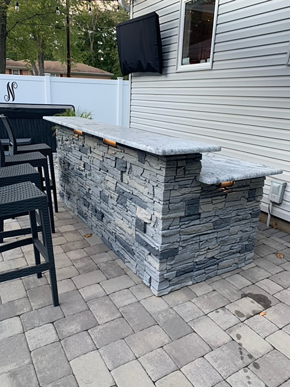 Patio bar, DIY stone bar, Outdoor bar