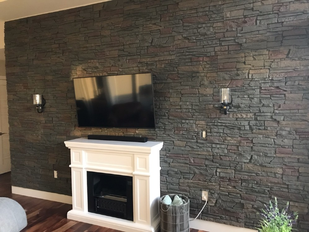 Fireplace Wall After