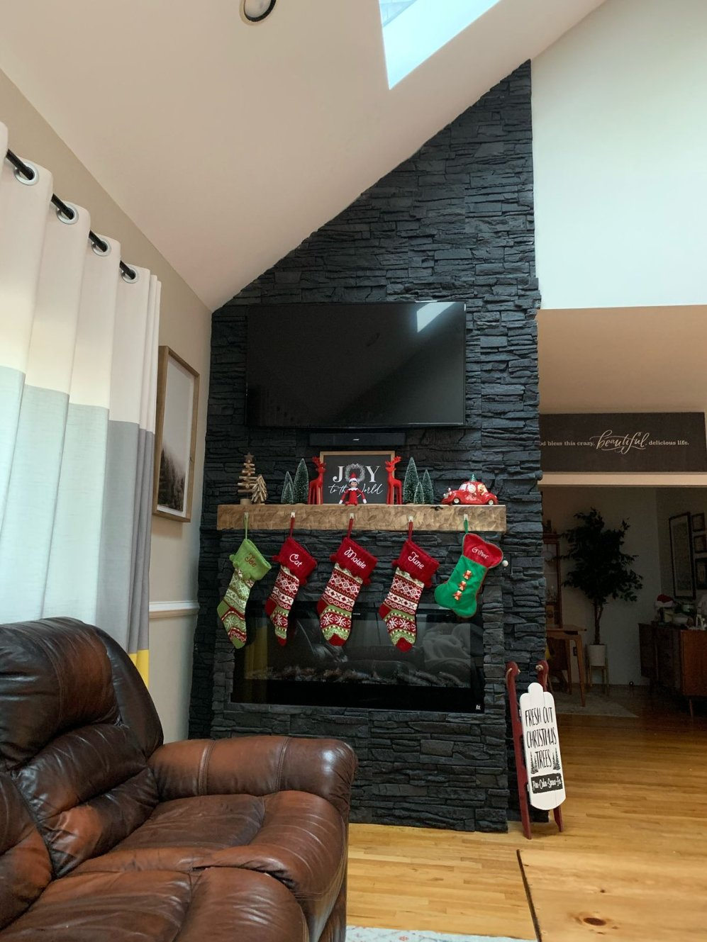 faux fireplace design after